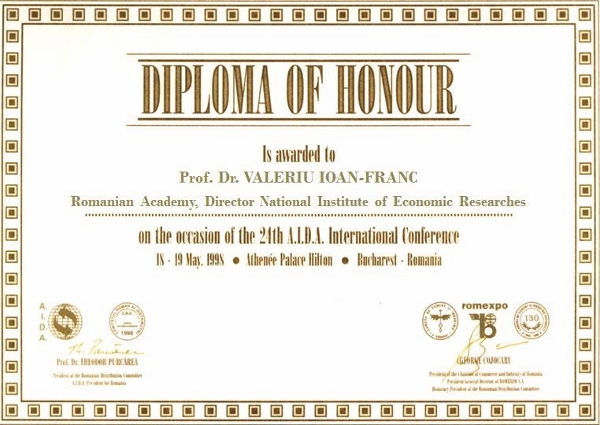 Honorary Member of RDC, Prof. Dr. VALERIU IOAN-FRANC, Romanian Academy, Director INCE (600x425)