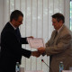 Diploma of Honorary Member of the Romanian Distribution Committee handed by Theodor Purcarea