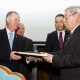 """10. Ioan ERHAN receiving the """"Diploma of Excellence"""" with silver commemorative coin"""