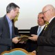 """17. Cristian SOCOL receiving the """"Diploma of Excellence"""" with silver commemorative coin"""