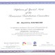 9. Dumitru PATRICHE, Diploma of Special Merit of the RDC, SANABUNA International, October 2012