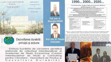 Profesorul Gheorghe Zaman, Moderatorul Simpozionului Economia de idei şi dezvoltarea durabilă, 16 mai 2000